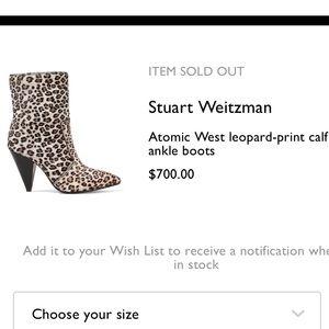 Stuart Weitzman Shoes - 🐆❌SOLD❌🐆Stuart Weitzman Atomic West 🐆Booties